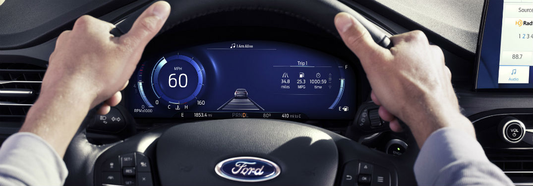 driver dash in a 2020 Ford Escape
