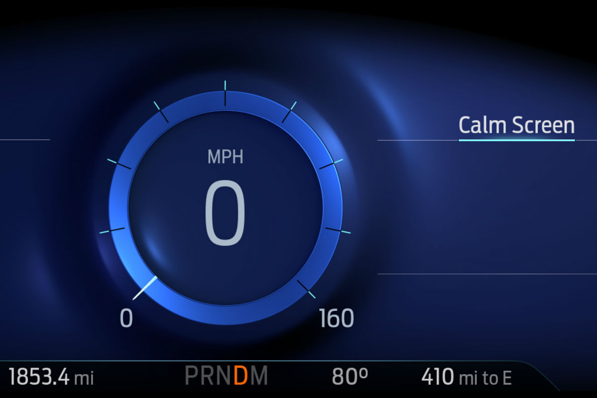 close up of mindful mode in a 2020 Ford Explorer
