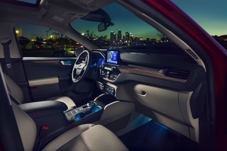 front-interior-of-a-2020-Ford-Escape