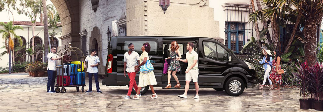 people exiting a 2020 Ford Transit