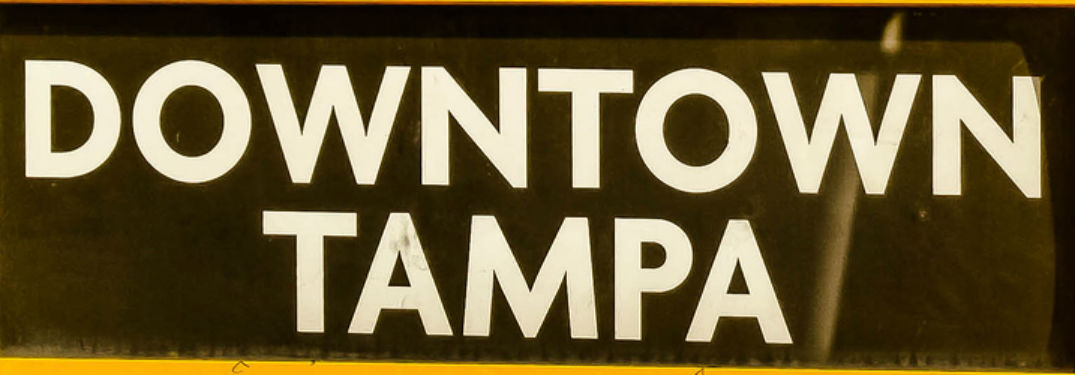 sign for downtown Tampa