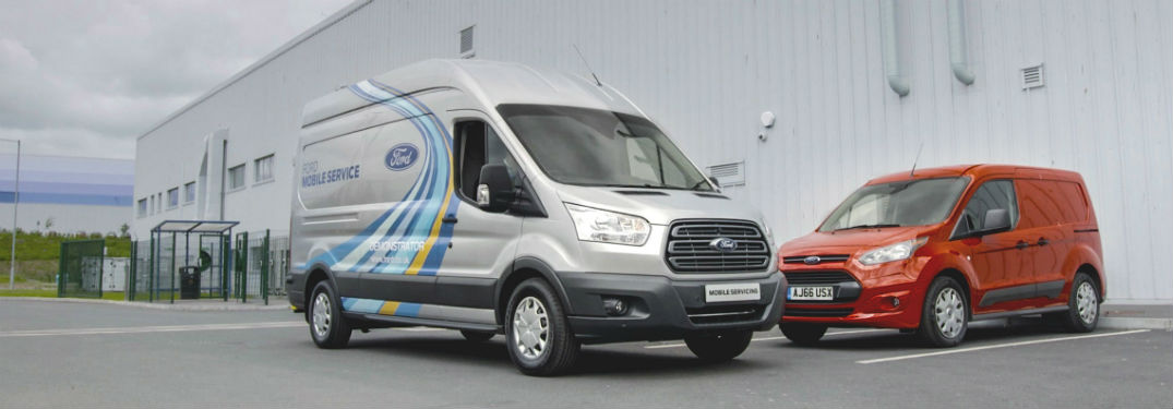 two Ford Transit vans