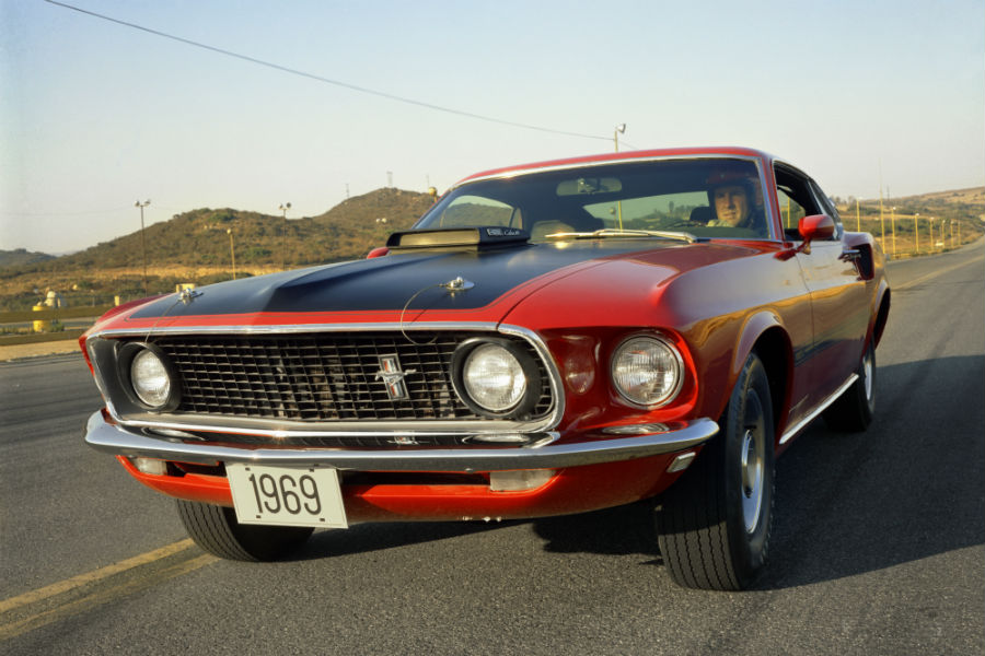 front-view-of-a-red-1969-Ford-Mustang_o