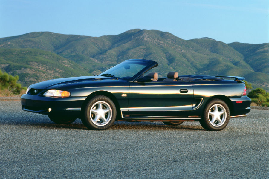 side-view-of-a-green-1994-Ford-Mustang_o