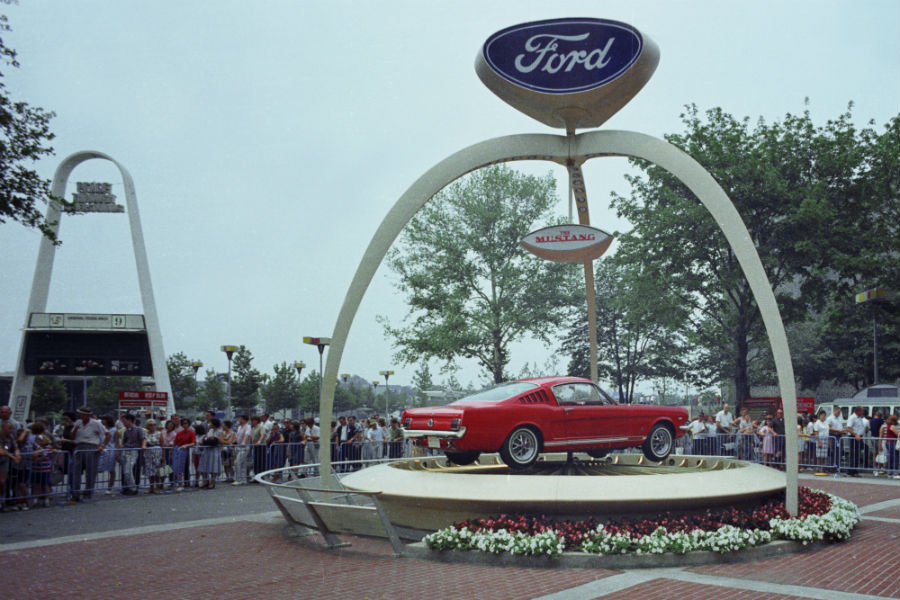 side-view-of-a-red-1964-Ford-Mustang_o