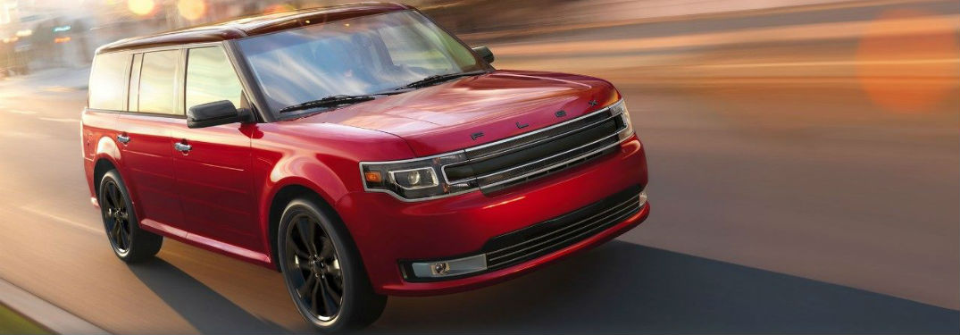 front view of a red 2019 Ford Flex