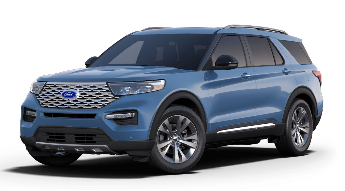 2020 Ford Explorer Blue Exterior Color