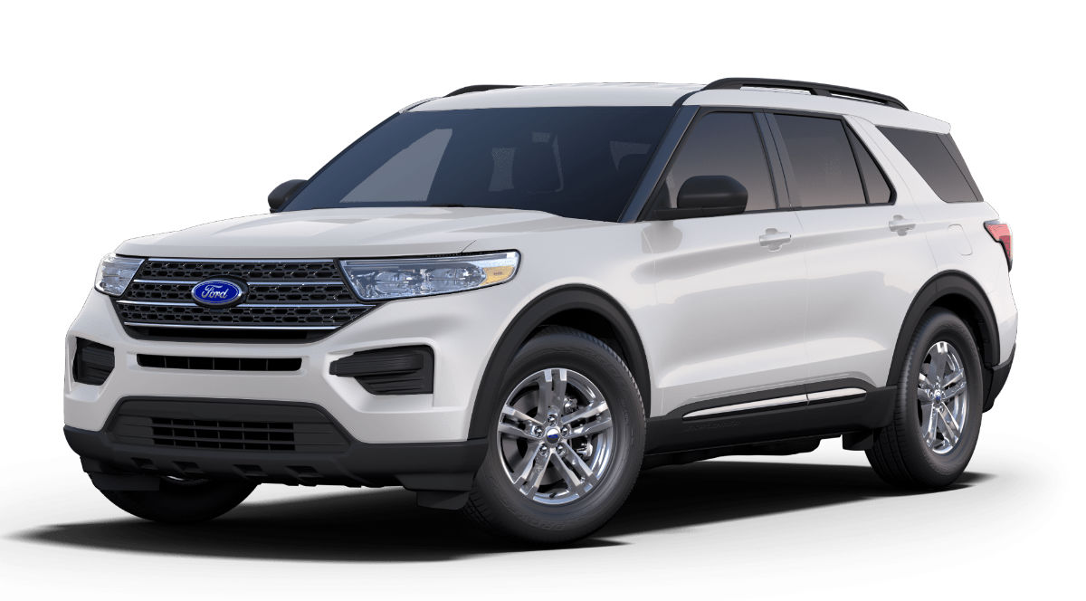 2020 Ford Explorer Oxford White Exterior Color
