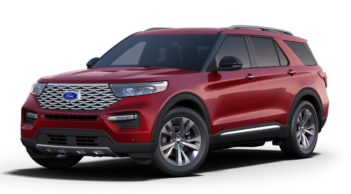 2020 Ford Explorer Rapid Red Exterior Color
