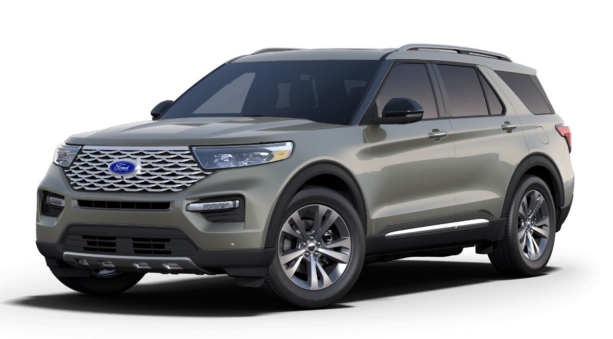 2020 Ford Explorer Silver Spruce Exterior Color