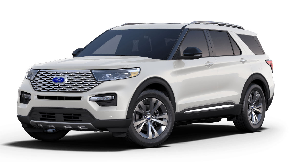2020 Ford Explorer Star White Exterior Color
