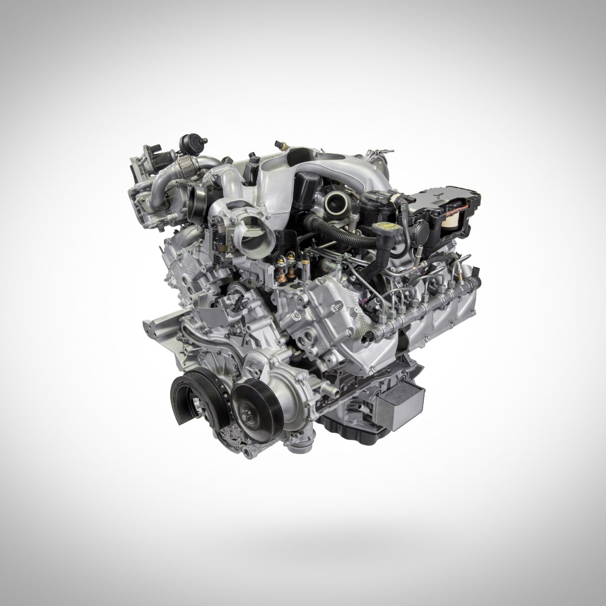 Diesel engine in a 2020 Ford Super Duty