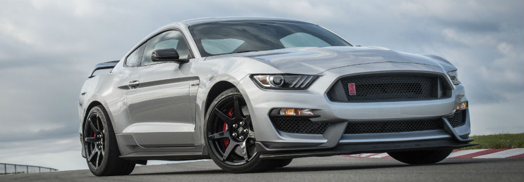 side view of a silver 2020 Ford Mustang Shelby GT350R