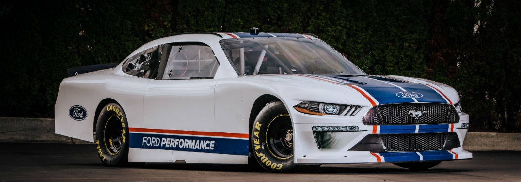 side view of the All-New 2020 NASCAR Xfinity Series Ford Mustang