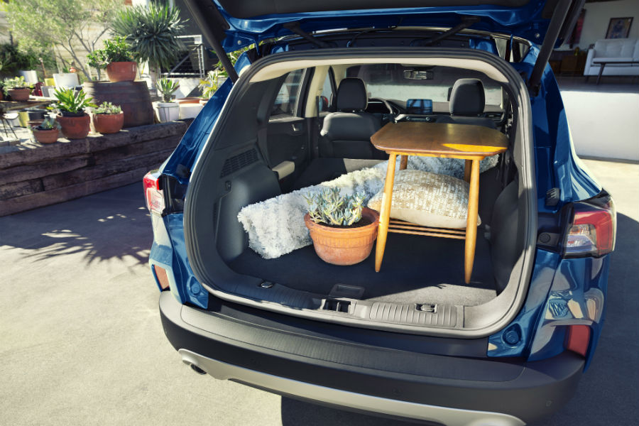 rear cargo area in a 2020 Ford Escape