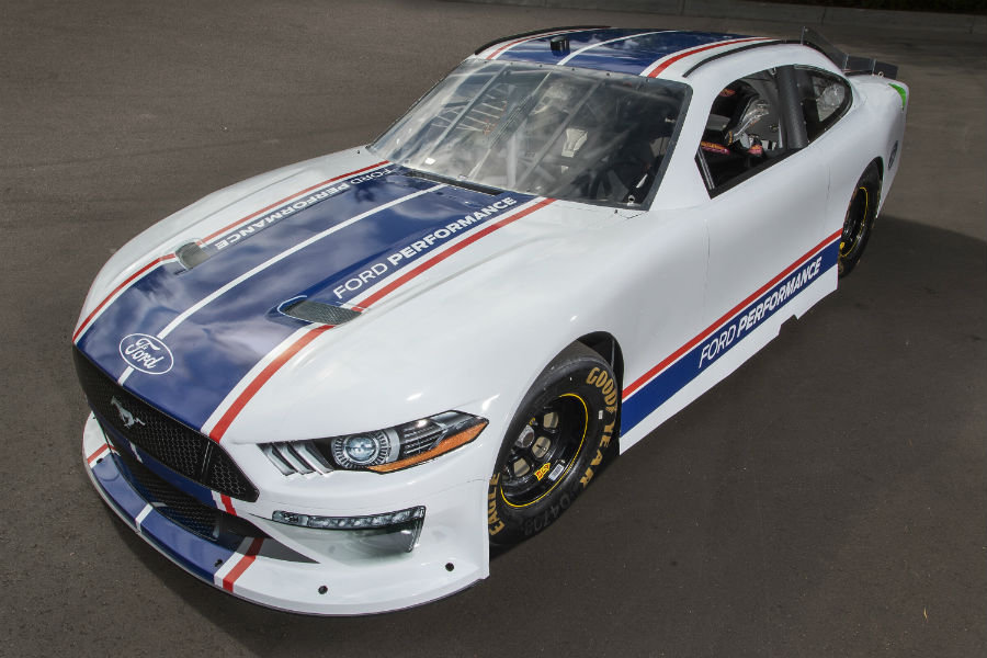 high-angle-view-of-the-2020-Ford-Mustang-NASCAR-model