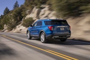 rear-view-of-a-blue-2020-Ford-Explorer