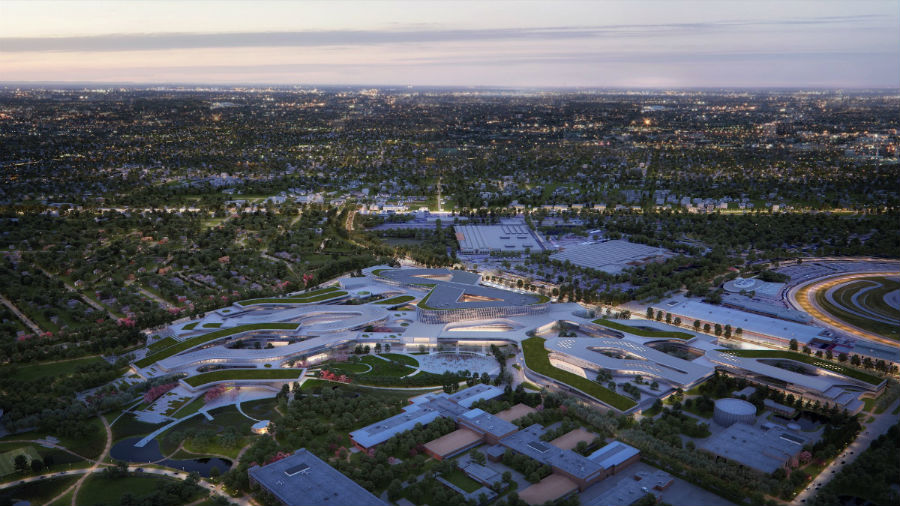 rendering of the new Ford campus