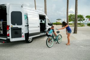 unloading-bikes-from-a-Ford-cargo-van