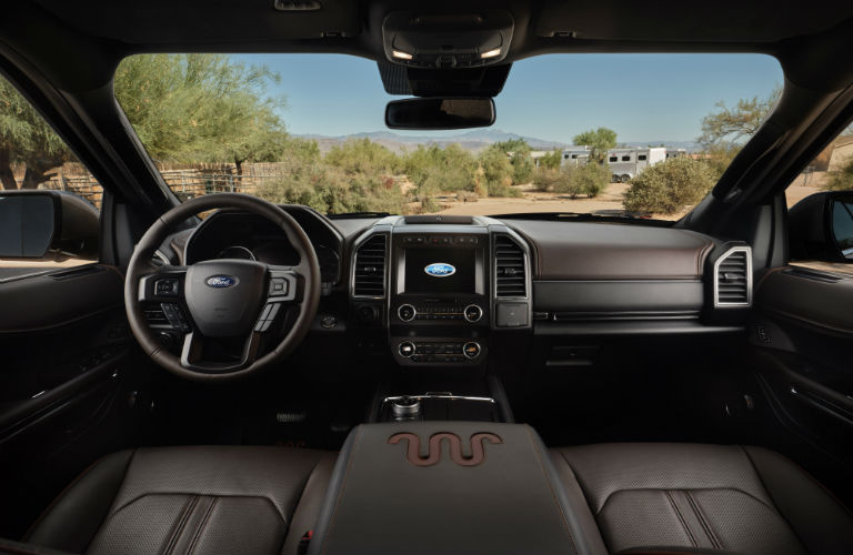 front interior of a 2020 Ford Expedition King Ranch