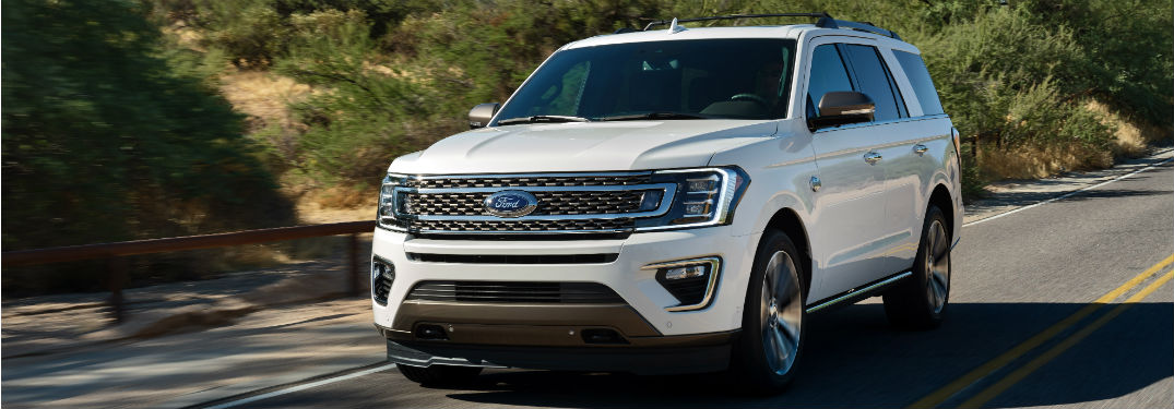 front view of a white 2020 Ford Expedition