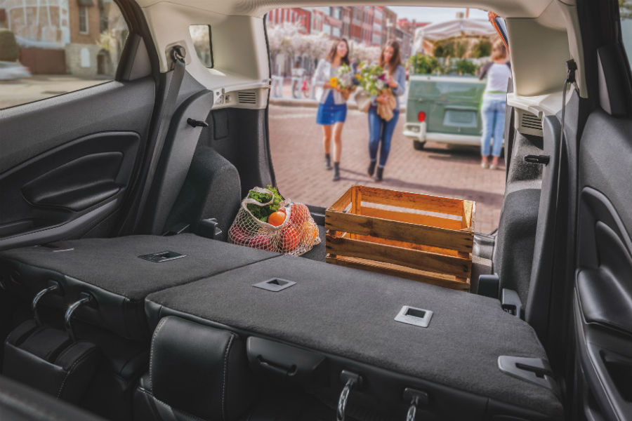 rear cargo area of a 2020 Ford EcoSport