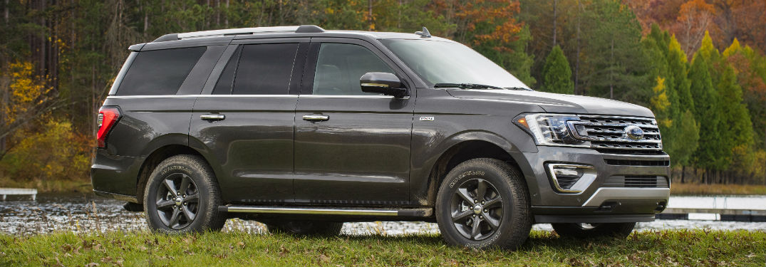 side view of a gray 2020 Ford Expedition