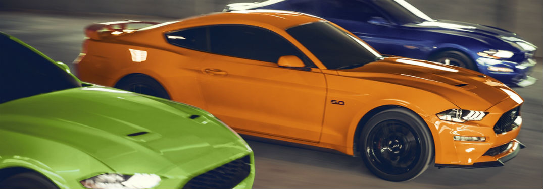three 2020 Ford Mustang trim levels