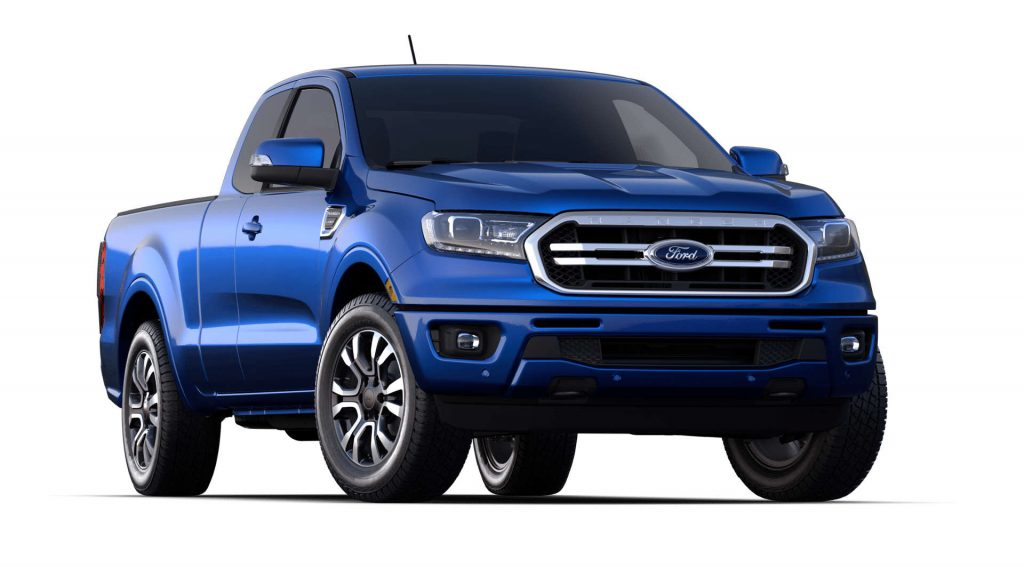 2020 Ford Ranger Lightning Blue Exterior Color