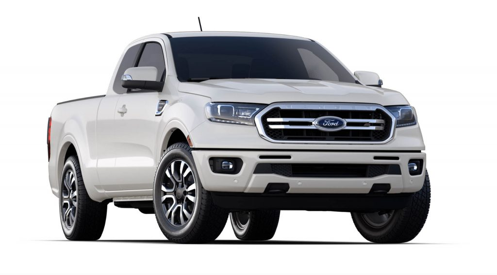 2020 Ford Ranger White Platinum Exterior Color