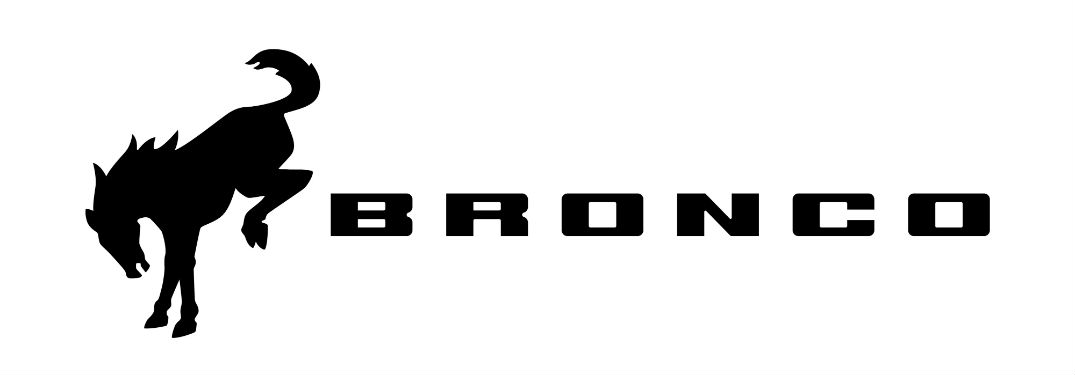 new black and white Ford Bronco logo