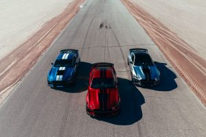 three 2020 Ford Mustang models