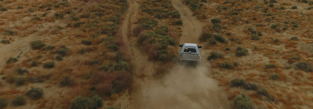 high angle view of a 2021 Ford Bronco in the desert