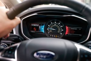 driver dash in a 2020 Ford Fusion