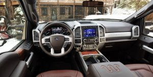 front interior of a 2020 Ford Super Duty