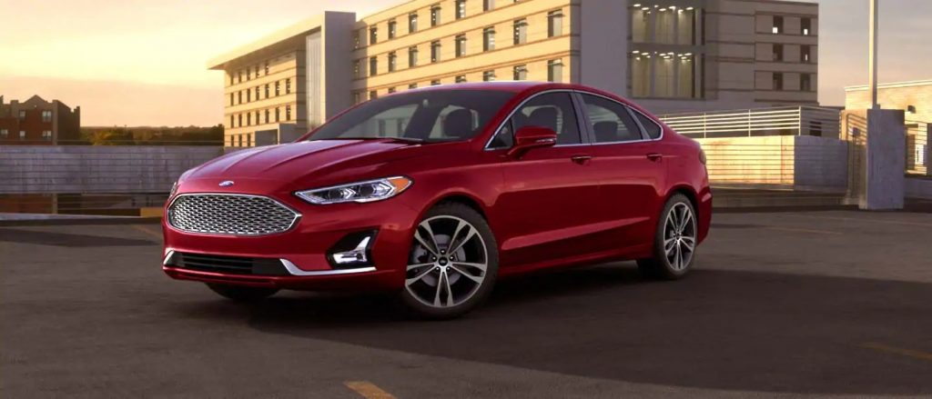 2020 Ford Fusion Rapid Red Exterior Color