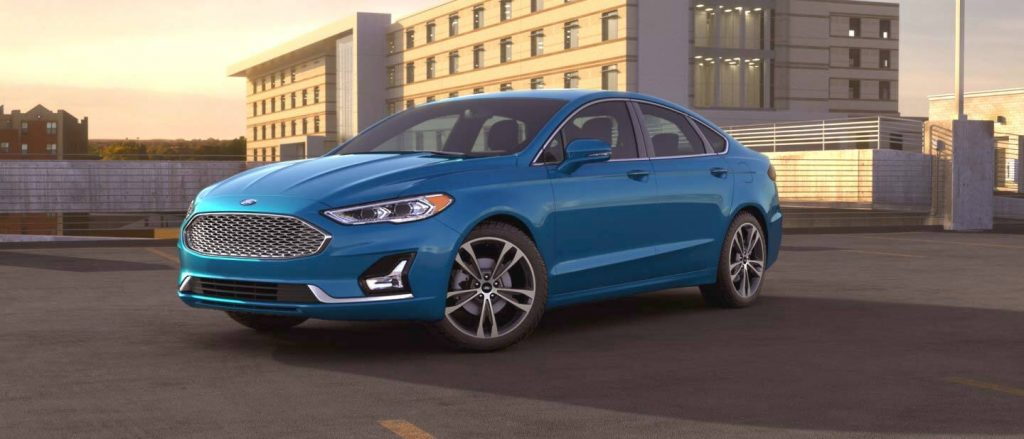 2020 Ford Fusion Velocity Blue Exterior Color