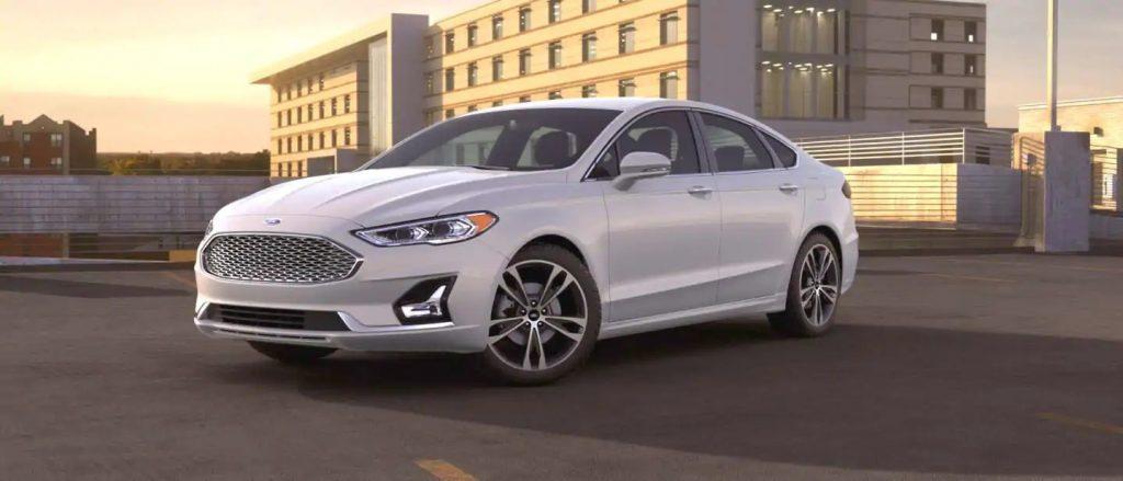 2020 Ford Fusion White Platinum Exterior Color