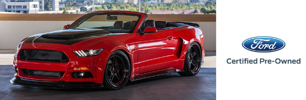 red certified pre-owned Ford Mustang