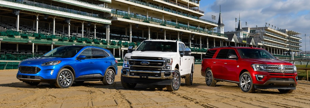 2020 Ford models at the Kentucky Derby
