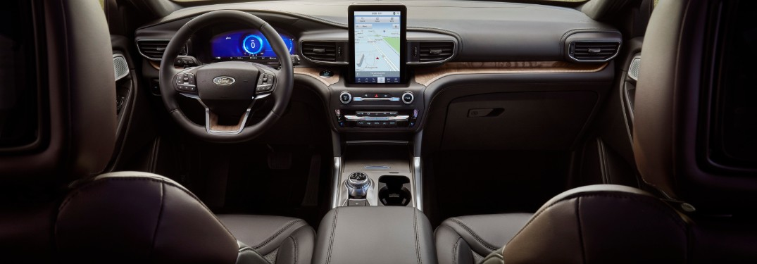 front interior of a 2020 Ford Explorer