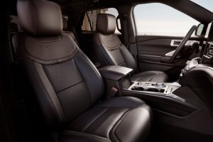 front seats in a 2020 Ford Explorer