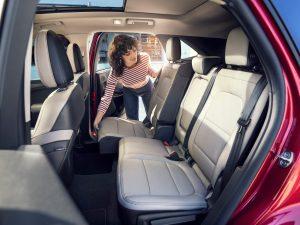 rear interior of a 2020 Ford Escape