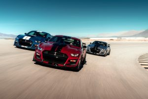 three 2020 Ford Mustang GT500 models