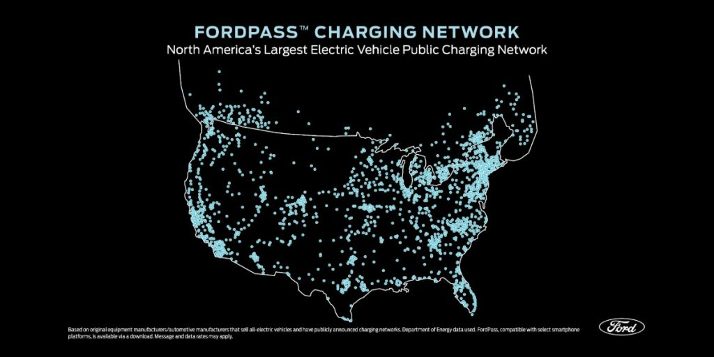 FordPass Charging Network Map