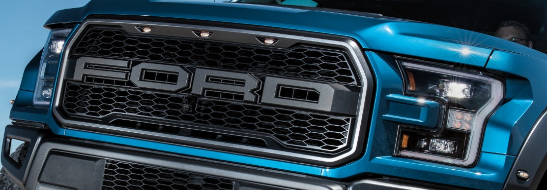 front grill of a 2020 Ford F-150 Raptor