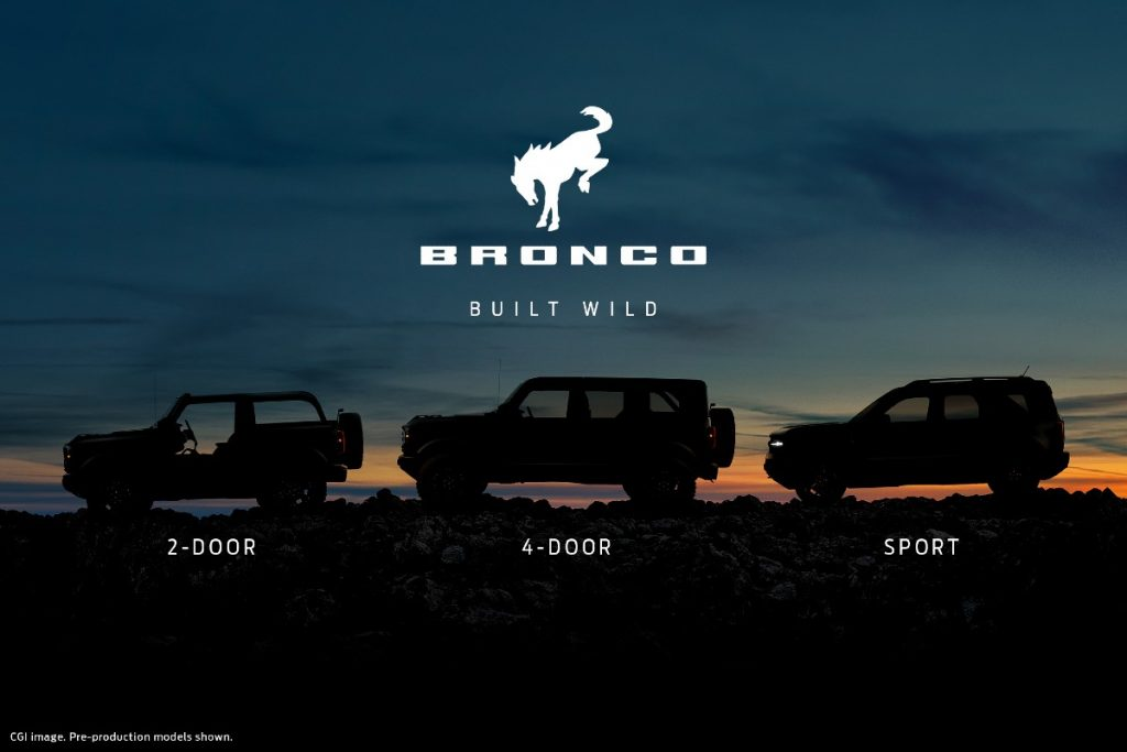2021 Ford Bronco trim levels and logo