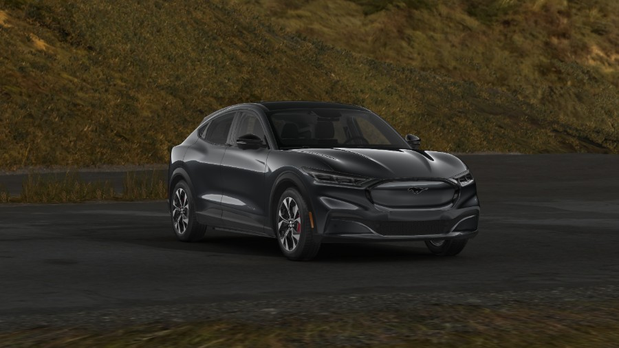 2021 Ford Mustang Mach-E Carbonized Gray Exterior Color