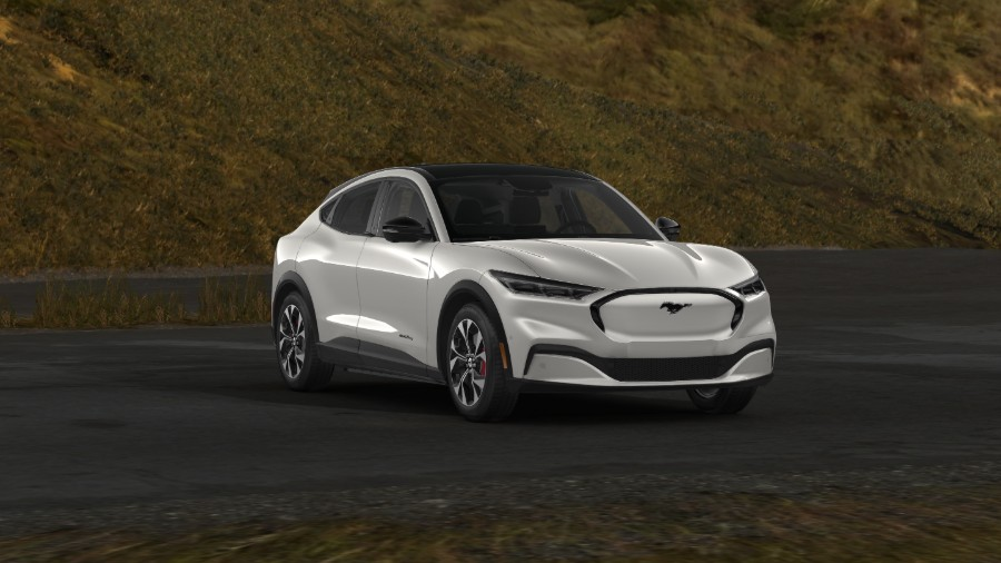 2021 Ford Mustang Mach-E Space White Exterior Color