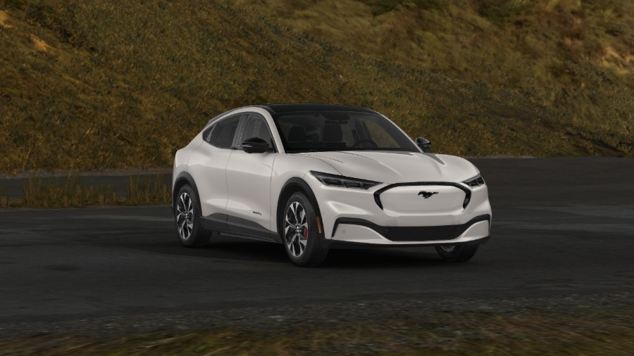 2021 Ford Mustang Mach-E Star White Exterior Color